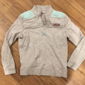 Grey and sea foam green Vineyard Vines Shep Shirt